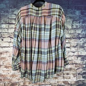 Free People Tops - Free People Come on Over Plaid Flannel